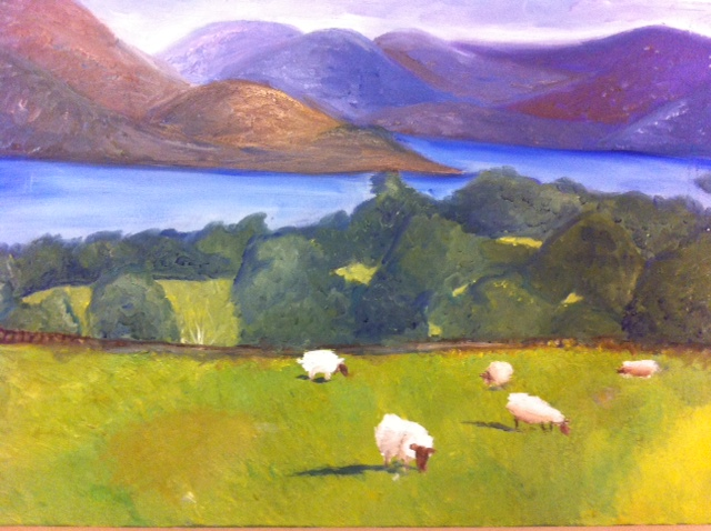 emily's sheep painting