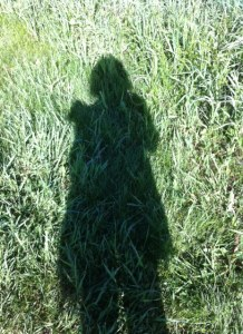 Joanna shadow in grass