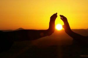Sde Boker sunrise hands